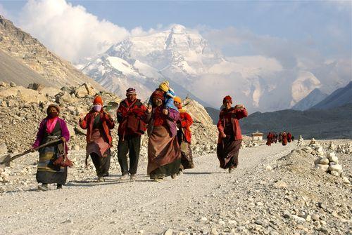 Pilgrims near Everest