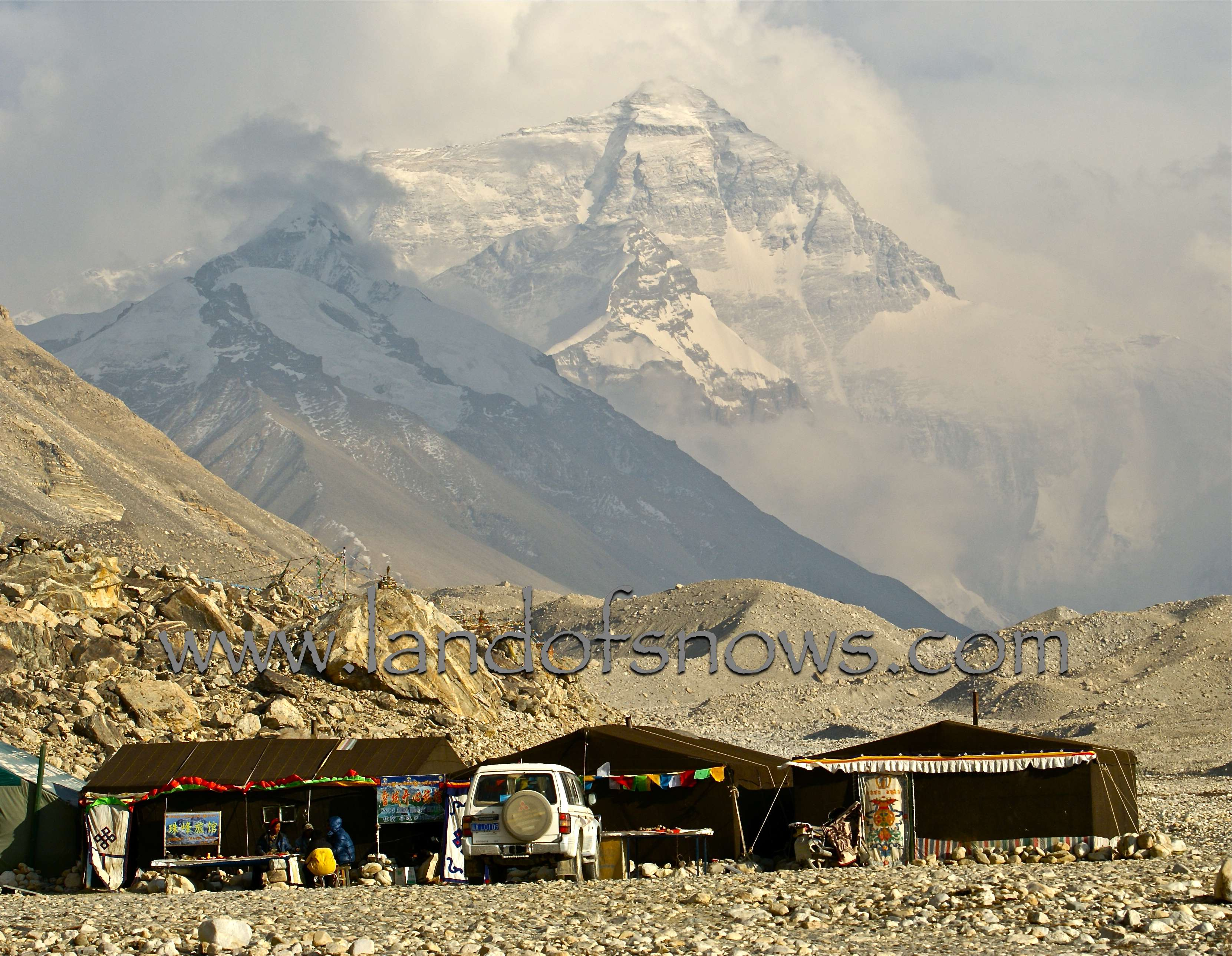 The tent hotels near Everest Base C& are a great place to stay with an excellent view of the mountain. The tent hotels are located about 5kms past Rongbhu ... & Tent Hotels at Everest Base Camp - The Land of Snows