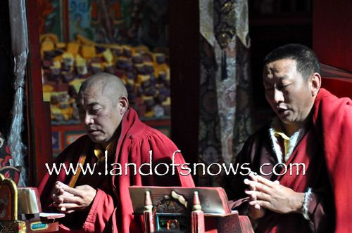 Monks chanting