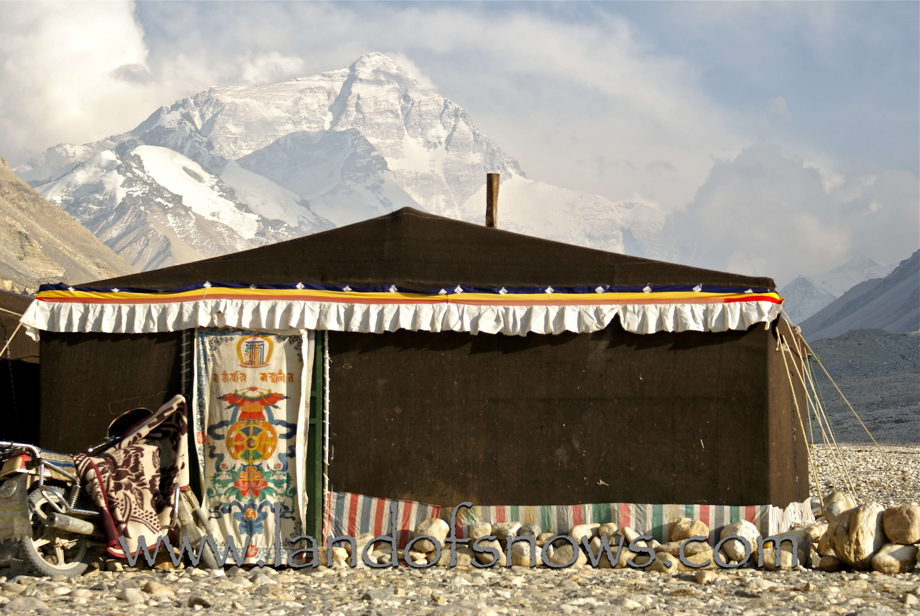 DSC02771wtmk & Tent Hotels at Everest Base Camp - The Land of Snows