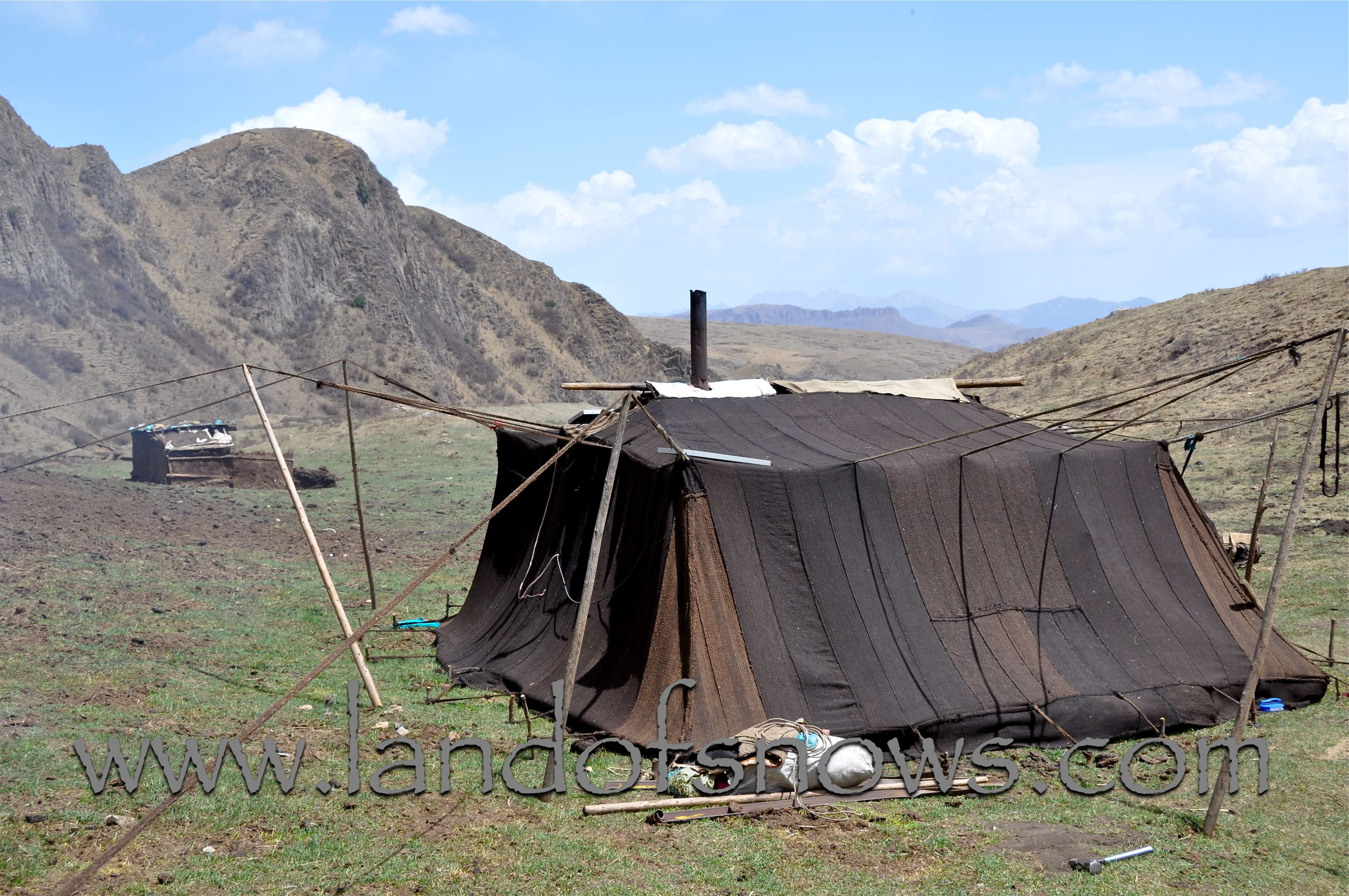 nomad tent along a trek & The Land of Snows: