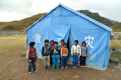 Tent school in Yushu