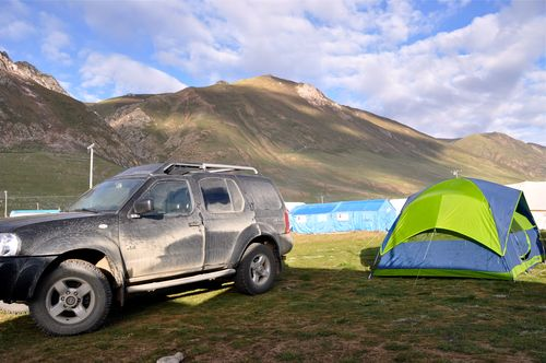 Our camp in Jyekundo