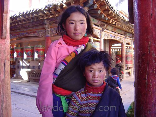 Children at Kumbum Monastery