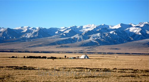 Grasslands south of Qinghai Lake