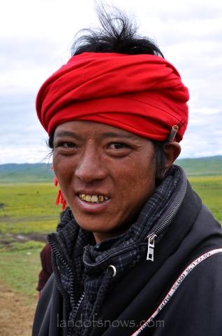 Nomad Tibetan man