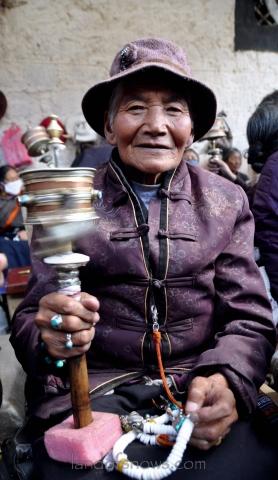 Kham Tibetan pilgrim in Lhasa
