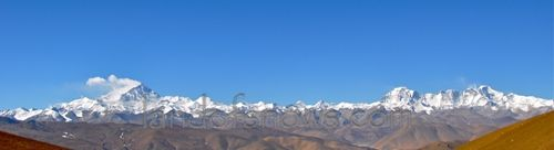 The Himalayas viewed from the Pang La Pass