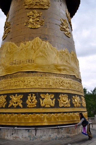 Huge Prayer Wheel