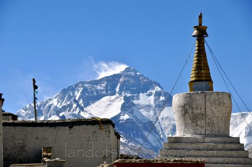 Everest from Rongbhu Monastery