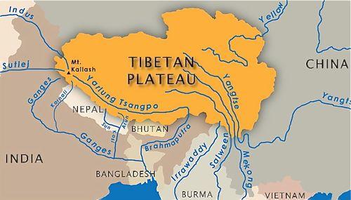 Tibetan Plateau Map