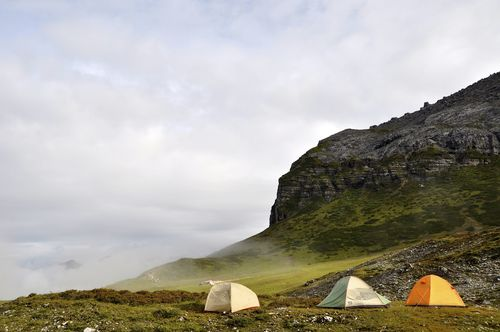 camping at First Hut