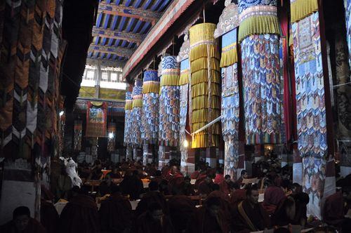 Prayer Hall inside Drepung Monastery