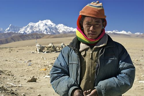 Tibetan nomad near the Himalaya
