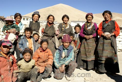 Tibetans from a village near Everest