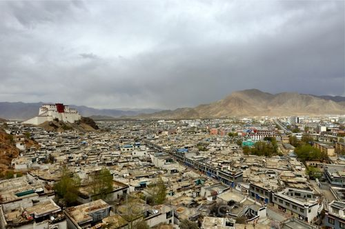 The Shigatse Fort above town