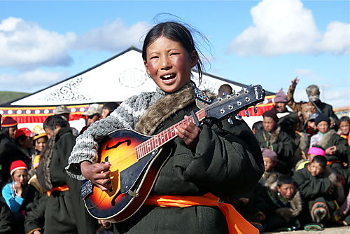 girl from Amdo singing