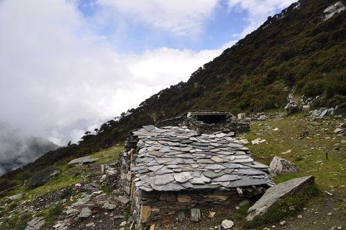 Several Stone Huts