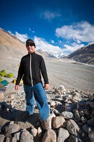 Losang at Everest Base Camp