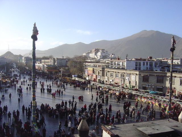 Overlooking Barkhor Square