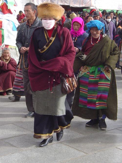 Walking around Jokhang